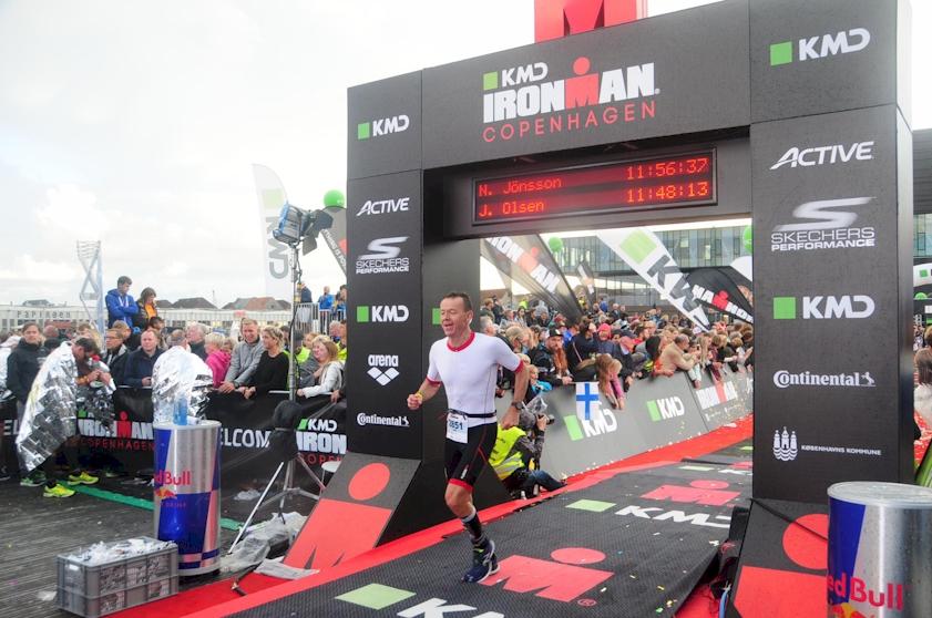 målstregen for Jan Olsen ved Copenhagen Ironman 2017